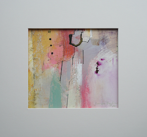 "<b>#10 - Unframed Mixed Media Abstract  – Matted Size 15"" x 14"" (3"" mat) - $250</b><br/>Image Size 9"" x 8""<br/>Unframed<br/><br/>"