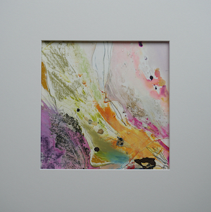 "<b>#12 - Unframed Mixed Media Abstract  – Matted Size 15"" x 15"" (3"" mat) - $250</b><br/>Image Size 9"" x 9""<br/>Unframed<br/><br/>"