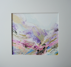 "<b>#12 - Unframed Mixed Media Abstract – Matted Size 19"" x 18"" (3½"" mat) - $350</b><br/>Image Size 12"" x 11""<br/>Unframed<br/><br/>"