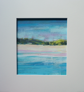 "<b>#14 - Unframed Pastel Seascape  – Matted Size 14"" x 15"" (3"" mat) - $250</b><br/>Image Size 8"" x 9""<br/>Unframed<br/><br/>"