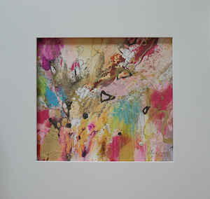 "<b>#25 - Unframed Mixed Media Abstract – Matted Size 19"" x 18"" (3½"" mat) - $350</b><br/>Image Size 12"" x 11""<br/>Unframed<br/><br/>"