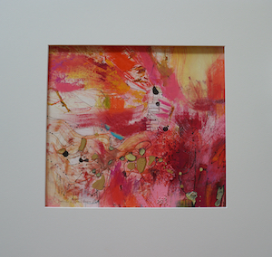 "<b>#26 - Unframed Mixed Media Abstract – Matted Size 19"" x 18"" (3½"" mat) - $350</b><br/>Image Size 12"" x 11""<br/>Unframed<br/><br/>"