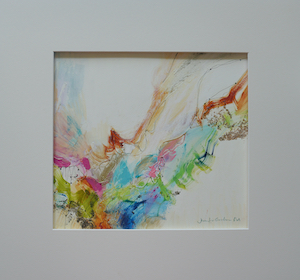 "<b>#27 - Unframed Mixed Media Abstract – Matted Size 19"" x 18"" (3½"" mat) - $350</b><br/>Image Size 12"" x 11""<br/>Unframed<br/><br/>"