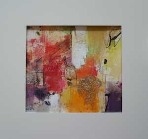 "<b>#29 - Unframed Mixed Media Abstract – Matted Size 19"" x 18"" (3½"" mat) - $350</b><br/>Image Size 12"" x 11""<br/>Unframed<br/><br/>"