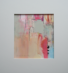 "<b>#3 - Unframed Mixed Media Abstract  – Matted Size 14"" x 15"" (3"" mat) - $250</b><br/>Image Size 8"" x 9""<br/>Unframed<br/><br/>"