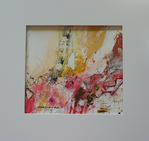 "<b>#31 - Unframed Mixed Media Abstract – Matted Size 19"" x 18"" (3½"" mat) - $350</b><br/>Image Size 12"" x 11""<br/>Unframed<br/><br/>"