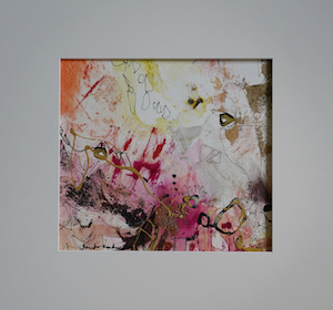 "<b>#32 - Unframed Mixed Media Abstract – Matted Size 19"" x 18"" (3½"" mat) - $350</b><br/>Image Size 12"" x 11""<br/>Unframed<br/><br/>"