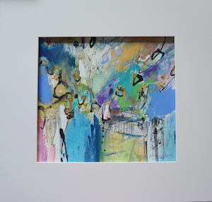 "<b>#36 - Unframed Mixed Media Abstract – Matted Size 19"" x 18"" (3½"" mat) - $350</b><br/>Image Size 12"" x 11""<br/>Unframed<br/><br/>"