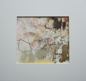 "<b>#7 - Unframed Mixed Media Abstract  – Matted Size 15"" x 14"" (3"" mat) - $250</b><br/>Image Size 9"" x 8""<br/>Unframed<br/><br/>"