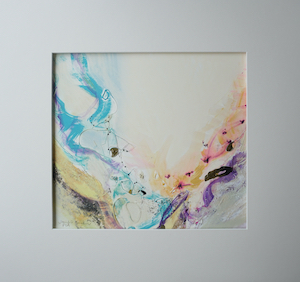 "<b>#8 - Unframed Mixed Media Abstract – Matted Size 19"" x 18"" (3½"" mat) - $350</b><br/>Image Size 12"" x 11""<br/>Unframed<br/><br/>"