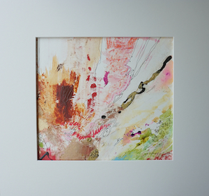 "<b>#9 - Unframed Mixed Media Abstract – Matted Size 19"" x 18"" (3½"" mat) - $350</b><br/>Image Size 12"" x 11""<br/>Unframed<br/><br/>"