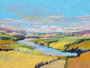 <b>Bend in the River 2</b><br/>24 x 18<br/>Sold<br/>