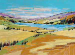 <b>Bend in the River 5</b><br/>24 x 18<br/>Sold<br/>