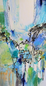<b>Blue and Green Series 11</b><br/>16 x 28<br/>Sold<br/>