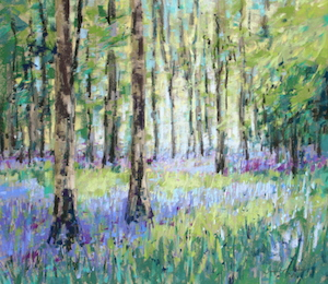 <b>Bluebell Woods VI</b><br/>20 x 18<br/>Sold<br/>