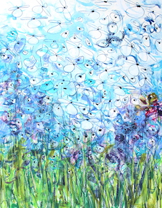 <b>Blue Flower Series 10</b><br/>22 x 30<br/><br/>