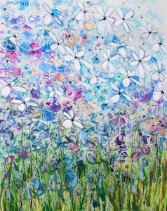 <b>Blue Flower Series 6</b><br/>22 x 30<br/><br/>