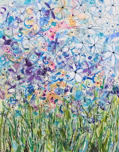 <b>Blue Flower Series 7</b><br/>22 x 30<br/><br/>