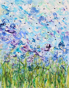 <b>Blue Flower Series 8</b><br/>22 x 30<br/><br/>
