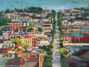 <b>City Color II</b><br/>30 x 22<br/>Sold<br/>Honorable Mention in Pastels, Mystic, CT Art Festival - 2009
