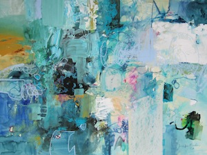 <b>Cool Blues</b><br/>22 x 16<br/>Sold<br/>