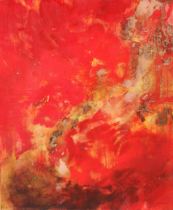 <b>Copper and Red Flow 2 (Acrylic)</b><br/>20 x 24<br/><br/>