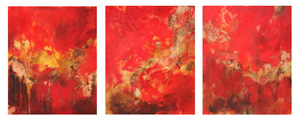 <b>Copper and Red Flow Triptych (Copper and Red Flow 1, 2 & 3) (Acrylic)</b><br/>20 x 24 (each)<br/><br/>