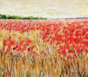<b>Corn and Poppies XXIII</b><br/>20 x 18<br/><br/>
