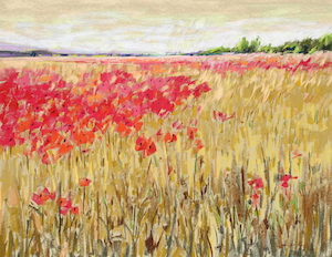 <b>Countryside Poppies 3</b><br/>24 x 18<br/><br/>