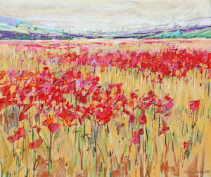 <b>Countryside Poppies 8</b><br/>20 x 18<br/><br/>