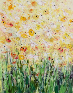 <b>Daisy Chain 27</b><br/>22 x 30<br/>Sold<br/>