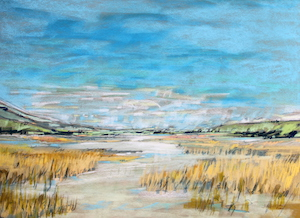 <b>Early Fall Marsh 2</b><br/>30 x 22<br/>Sold<br/>