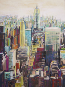 <b>Empire State III</b><br/>22 x 30<br/><br/>Second Prize in Pastels, Mystic, CT Art Festival – 2013
