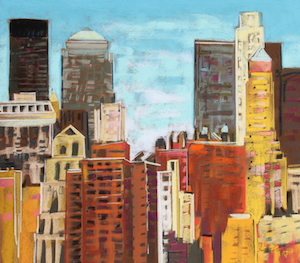 <b>From Brooklyn Bridge 4</b><br/>22 x 20<br/>Sold<br/>
