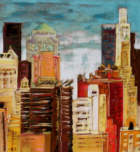 <b>From Brooklyn Bridge 5</b><br/>20 x 22<br/>Sold<br/>