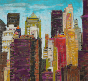 <b>From Brooklyn Bridge 7</b><br/>Image Size 22 x 20<br/>Framed Size 34 x 32<br/><br/>