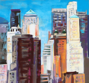<b>From Brooklyn Bridge</b><br/>22 x 20<br/>Sold<br/>