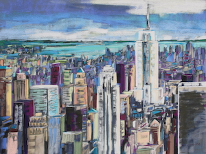 <b>Manhattan II</b><br/>30 x 22<br/><br/>Third Prize, Annual Mystic Art Festival, CT – 2011