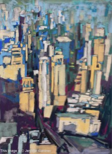 <b>Midtown Manhattan II</b><br/>22 x 22<br/>Sold<br/>Finalist - Annual Artist's Magazine, Art Competition - 2009