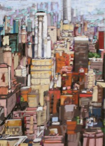 <b>Midtown Manhattan IV</b><br/>22 x 30<br/>Sold<br/>Award of Excellence – Annual Art Festival, Winter Park, FL – 2013