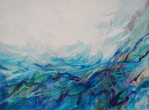 <b>Ocean 1 (Acrylic)</b><br/>Image Size 40 x 30<br/>Gallery Wrapped Canvas<br/><br/>