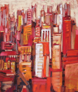 <b>Pink City Sunrise III</b><br/>18 x 20<br/><br/>