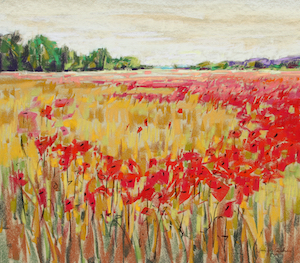 <b>Poppies, France 1</b><br/>Image Size 20 x 18<br/>Framed Size 28 x 26<br/><br/>