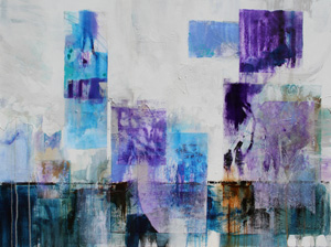 <b>Purple and Blue Series 4 (Acrylic)</b><br/>40 x 30<br/><br/>