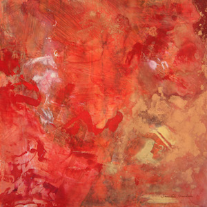 <b>Red and Copper Series 3 (Acrylic)</b><br/>16 x 16<br/>Sold<br/>