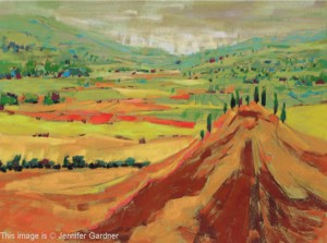 <b>Rolling Hills and Valley</b><br/>24 x 18<br/>Sold<br/>