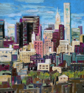 <b>Skyline, New York City 2</b><br/>20 x 22<br/>Sold<br/>