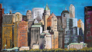 <b>Skyline, New York City 3</b><br/>28 x 16<br/><br/>