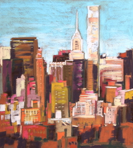 <b>Skyline, New York City 4</b><br/>20 x 22<br/>Sold<br/>