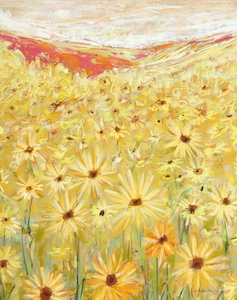 <b>Spanish Sunflowers 5</b><br/>18 x 24<br/><br/>